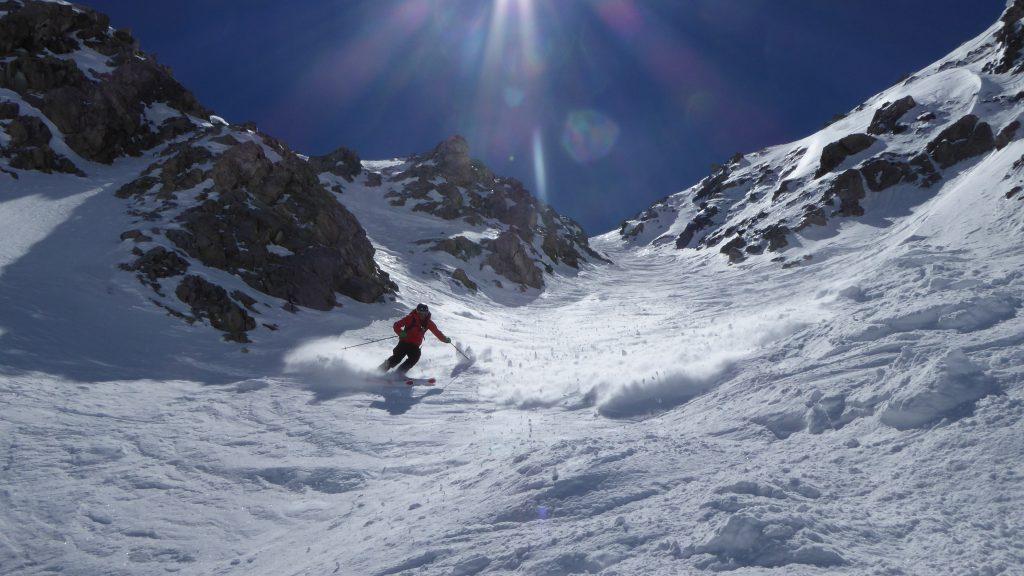 Rich skiing Pisteurs Couloir Val D I'sere
